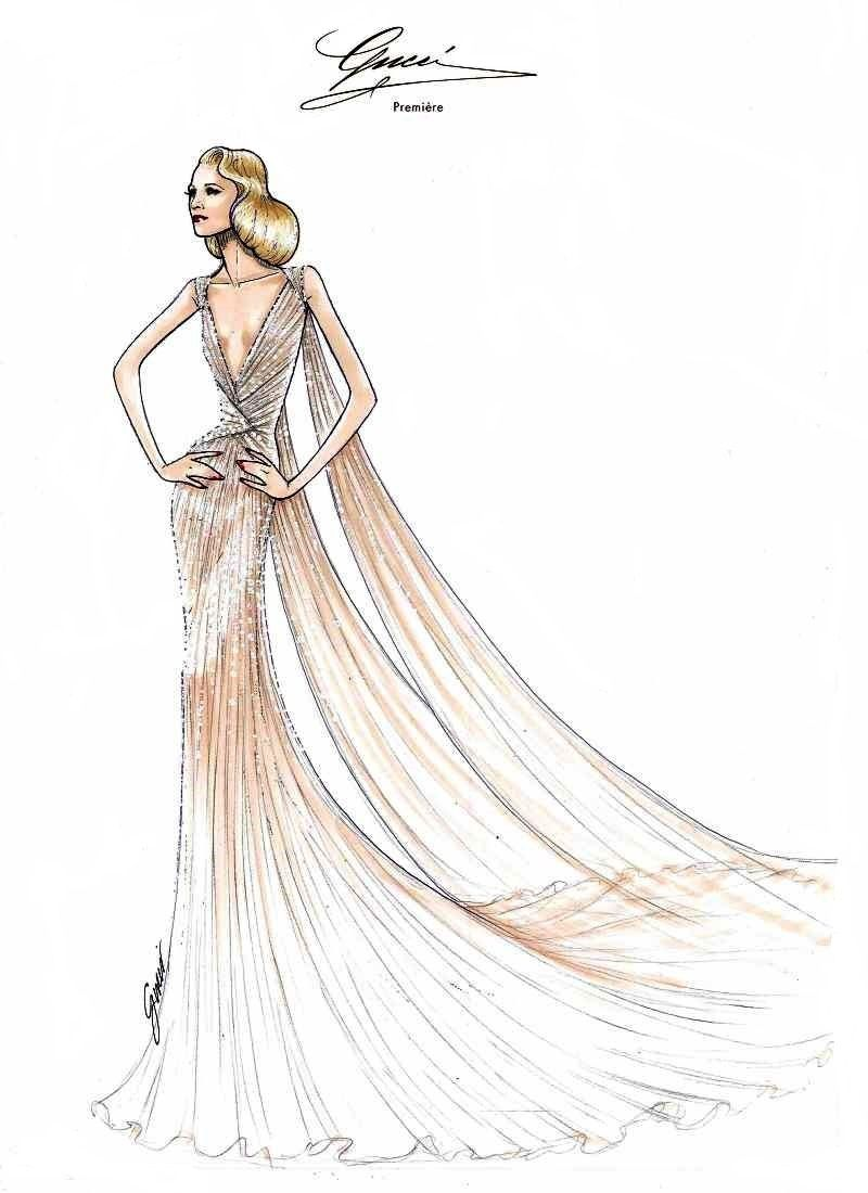 Blake Lively An Epitome Of Grace In Gucci At Met Gala 2014 Fashion Design Fashion Design Sketches Fashion Illustration