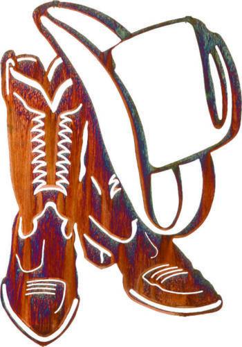 Cowboy Boots Hat Clipart