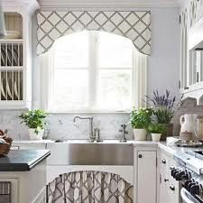 The Valance And Sink Skirt Fabric Add Balance To The Kitchen With Darker  Tones And A Tenacious Pattern. Valance And Sink Skirt Fabric (by Barbara  Barry) ...