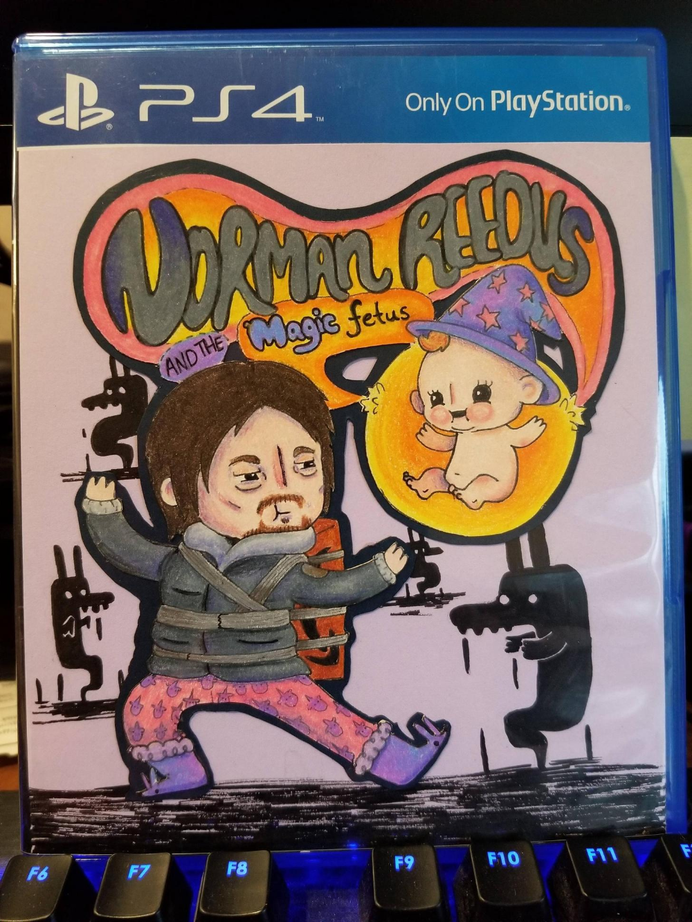 My wife made a custom cover for my new game. in 2020