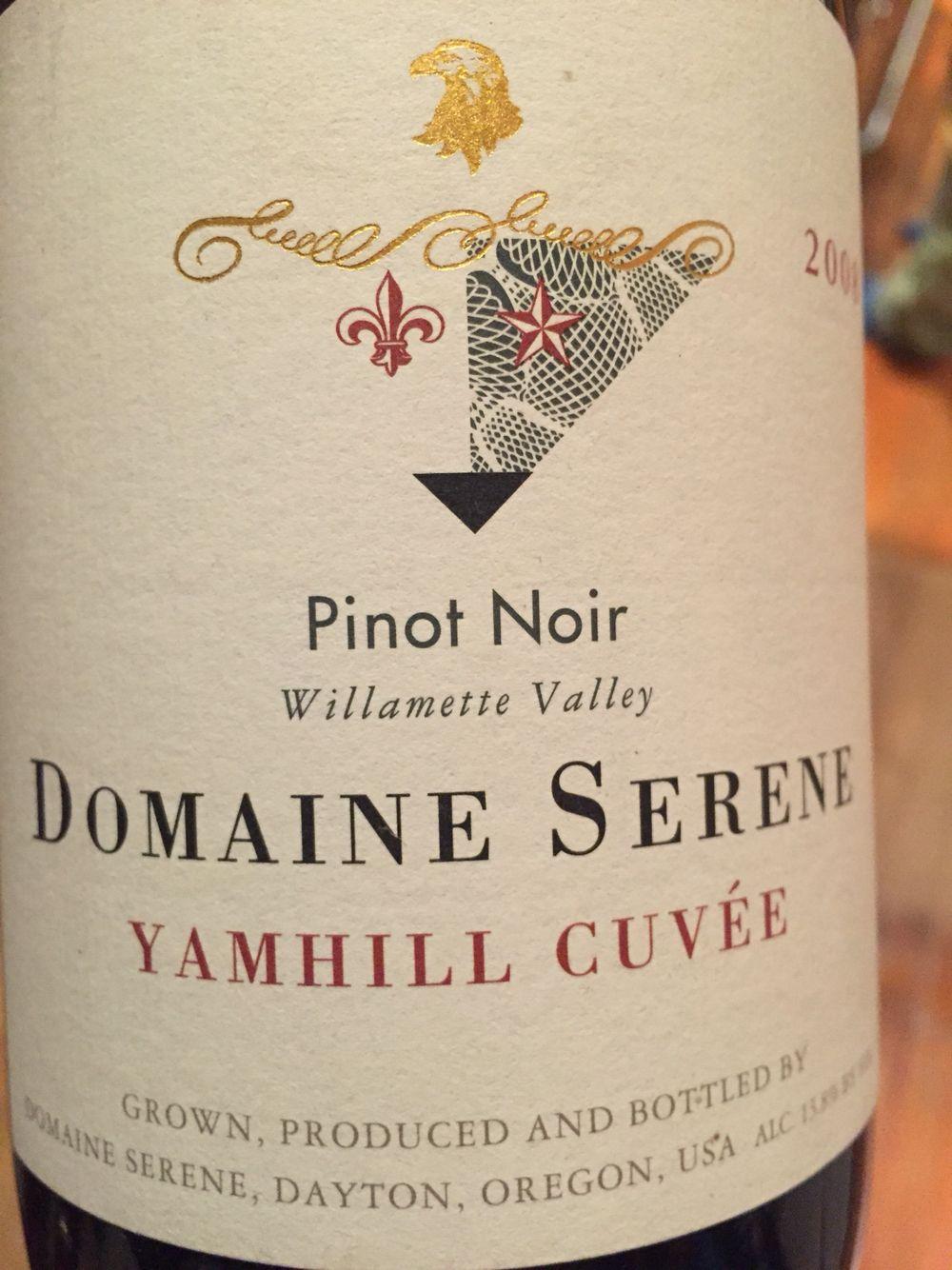2008 Domaine Serene, Yamhill Cuvée Pinot Noir, Williamette Valley, Oregon