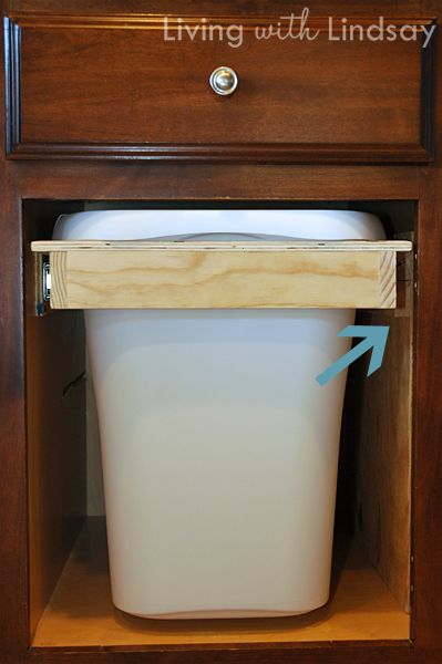 How To Build A Pull Out Trash And Recycling Bin Makely School For S