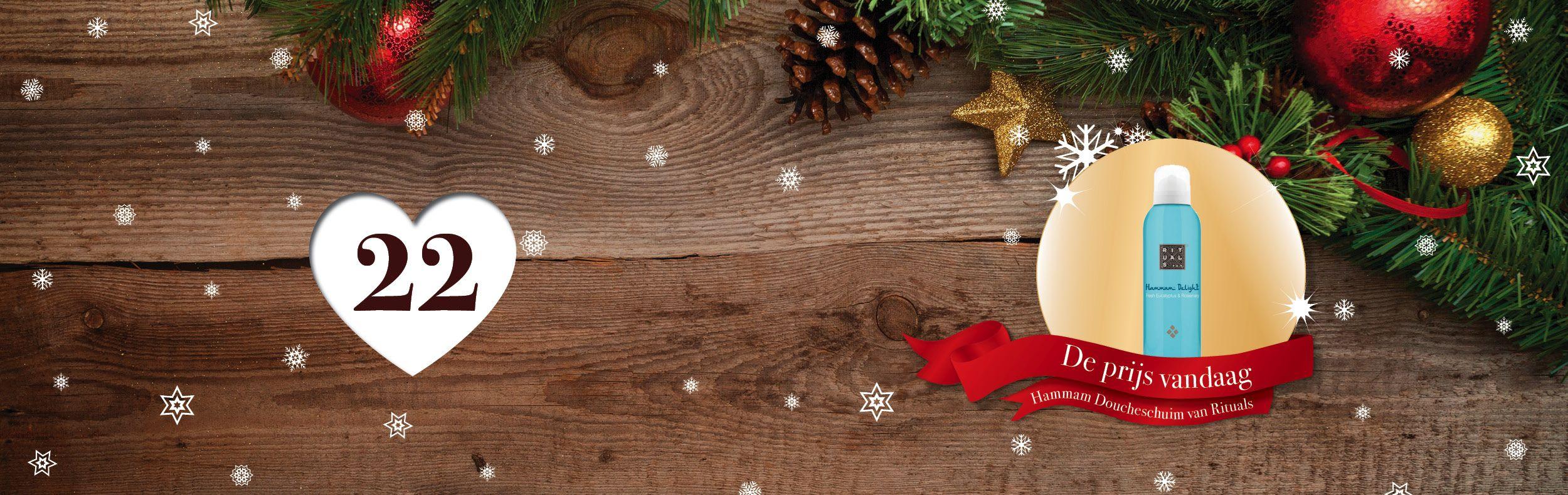🎄🎁✨ Tel af naar #Kerst met de adventskalender vol #prijzen van SpaDreams!     Het tweeëntwintigste vakje van onze Wellness - #Adventskalenderactie bevat het volgende cadeautje: overheerlijk doucheschuim van Rituals '' Hammam Delight '' 👌  Hammam Delight combineert de aromatische en revitaliserende eigenschappen van Verfrissende Eucalyptus en Rozemarijn.    Wil jij deze fantastische prijs winnen? Het enige wat je hoeft te doen is SpaDreams kerstkoekjes zoeken! 🍪 🎄    Bekijk vandaag de…