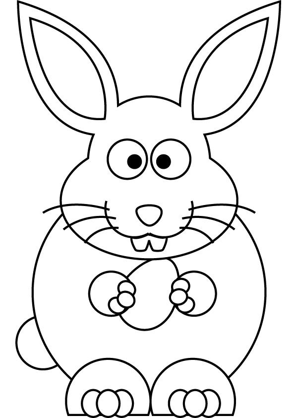 Line Art Easter Bunny : Easter bunny drawing eggs pinterest
