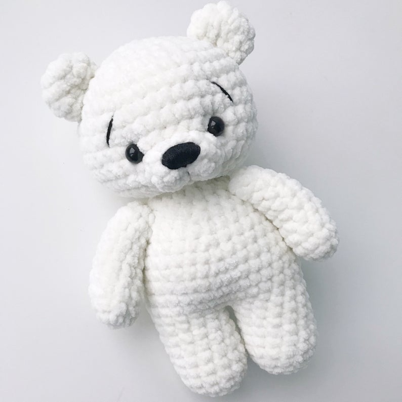 PDF Pattern Crochet Toy Baby Polar Bear Amigurumi
