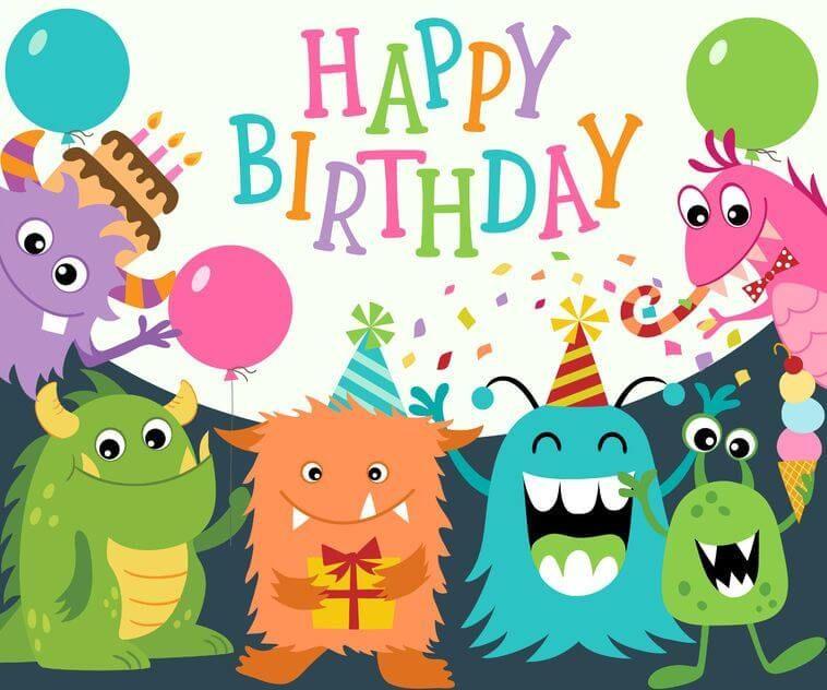 Happy Birthday Monster Kindergeburtstagswünsche