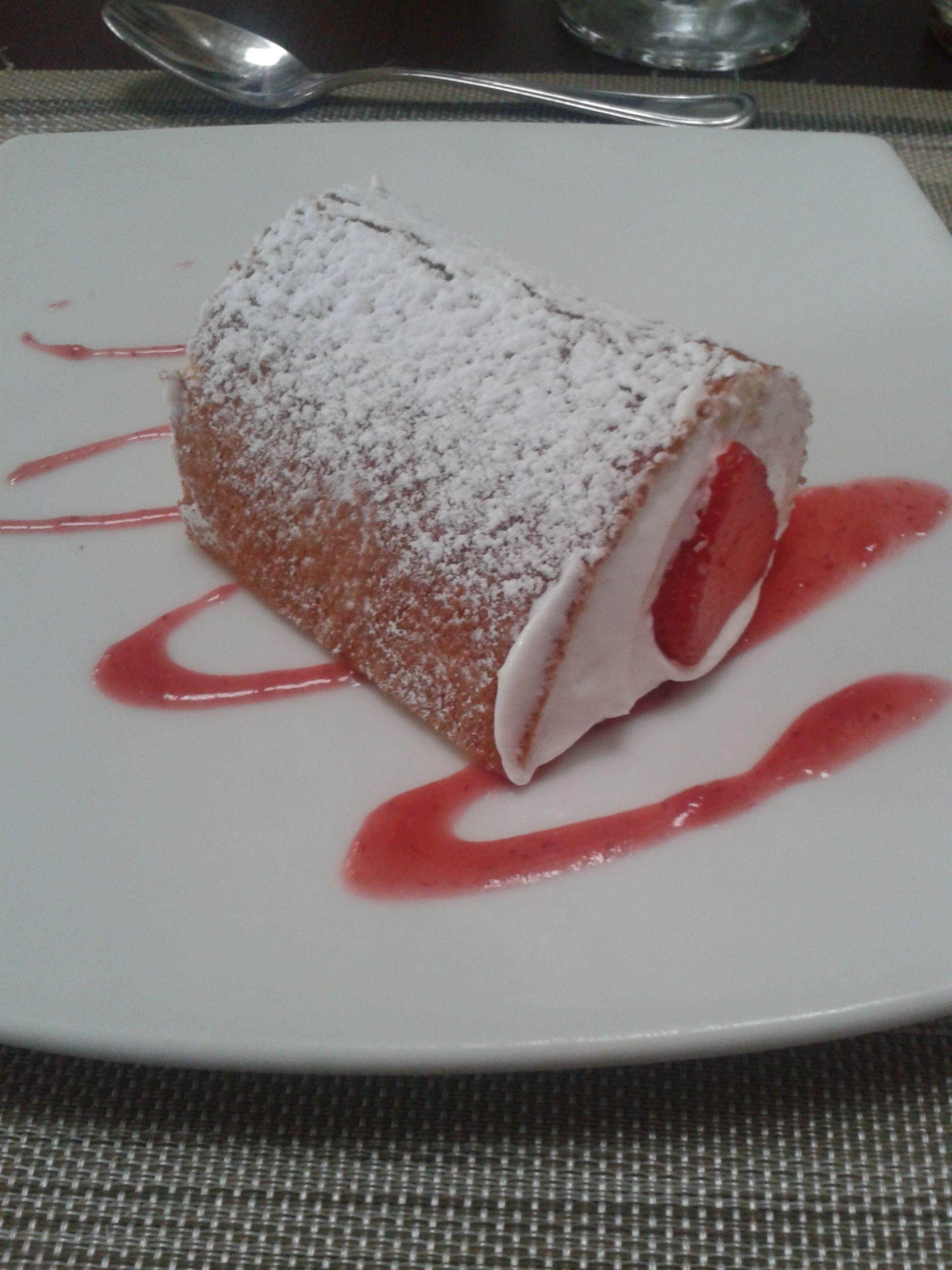 Rollo de Fresa #dessert