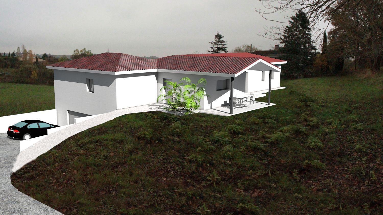 plan maison architecte maison contemporaine avec garage en sous sol sur terrain forte pente