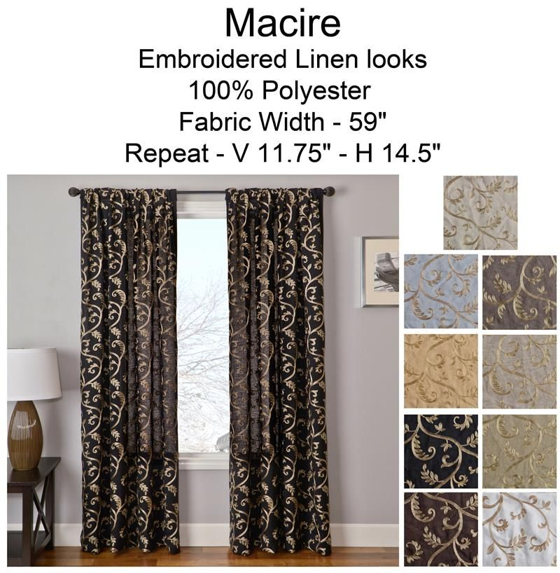 Macire Curtain Panel Available In 9 Choices Bestwindowtreatments