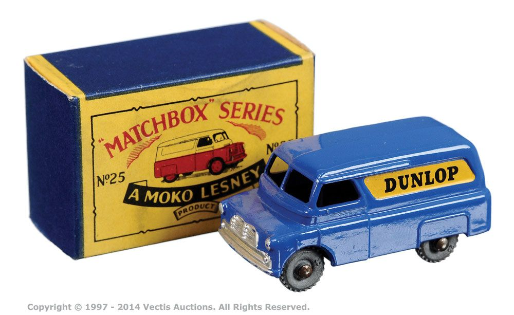 Matchbox Regular Wheels No.25A Bedford CA Dunlop Van | Vectis Toy Auctions