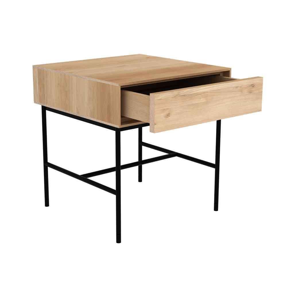 Nachttisch Whiteboard Von Ethnicraft Kombiniert Eiche Mit Schwarzem Metallgestell Bestellen Sie D Nachttisch Schublade Beistelltisch Mit Stauraum Nachttisch