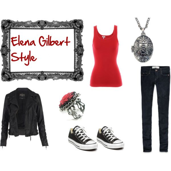 elena gilbert as nina dobrev on the vampire diaries inspired outfit