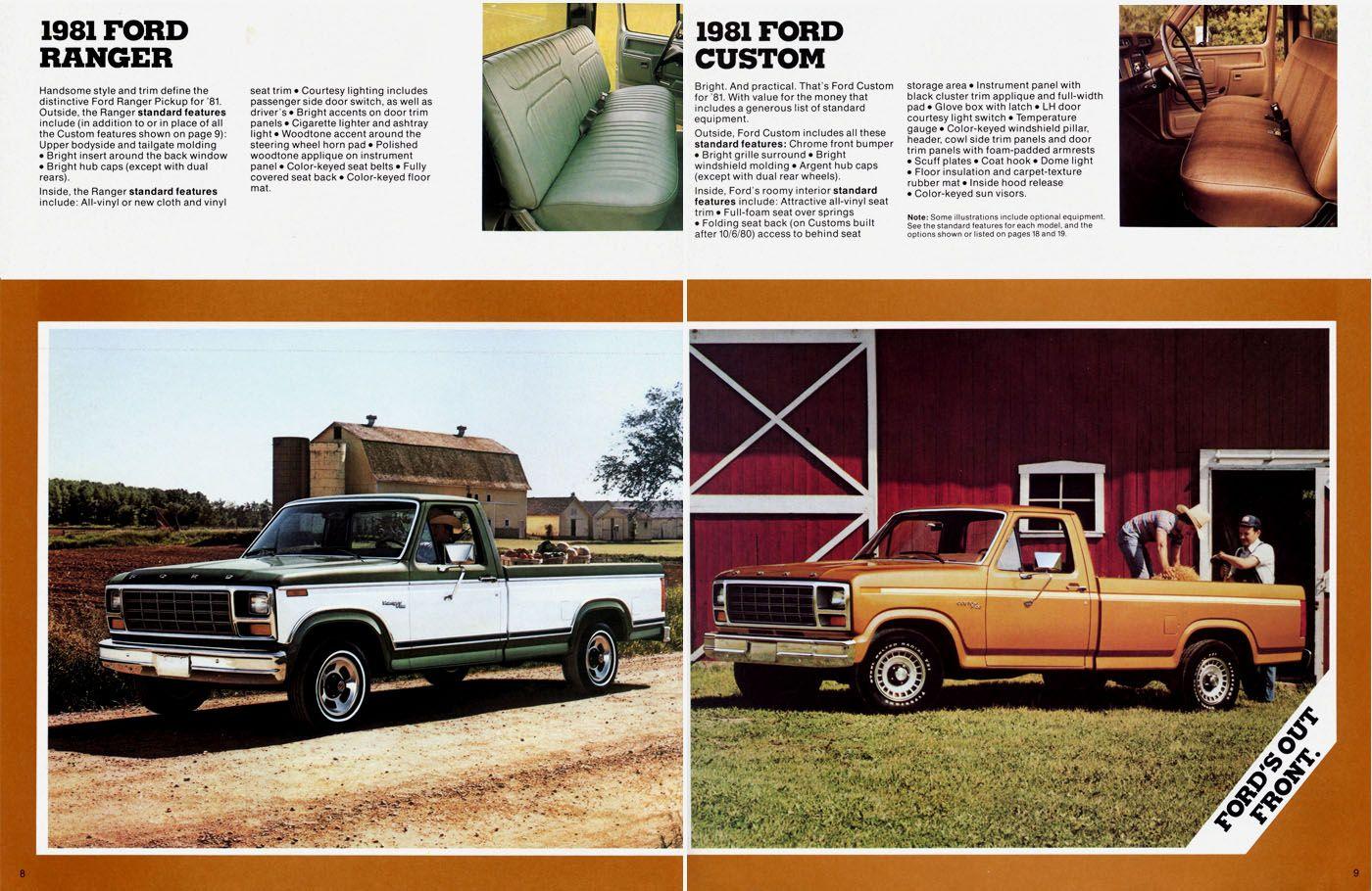 Directory Index Fmc Trucks Vans 1981 Trucks Vans 1981 Ford Pickup Brochure Ford Pickup Ford Ranger Ford