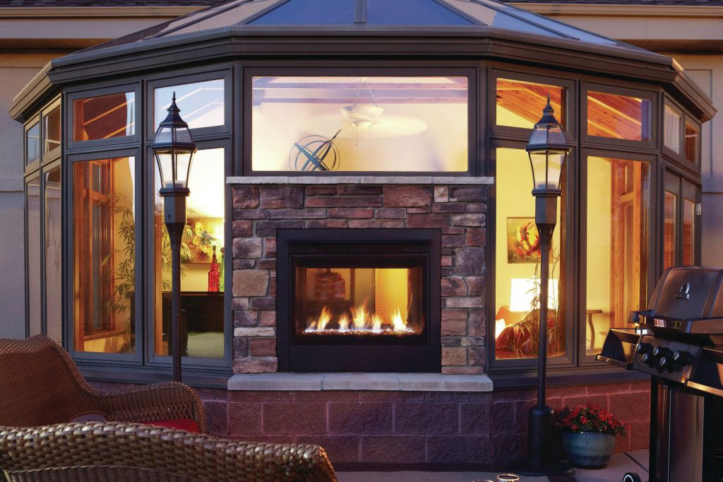 Double Sided Gas Fireplace Indoor Outdoor Indoor Outdoor Fireplaces Outdoor Gas Fireplace Double Sided Gas Fireplace