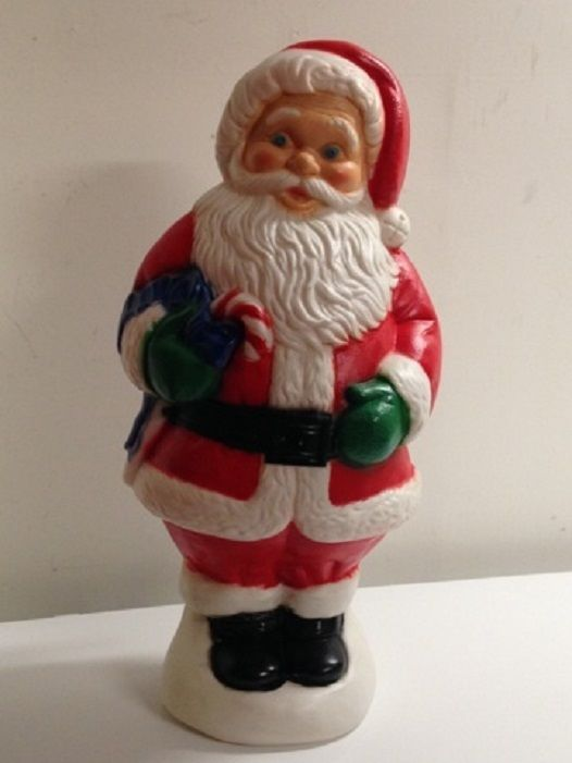 31 Quot Santa Claus Plastic Blow Mold Lighted Christmas