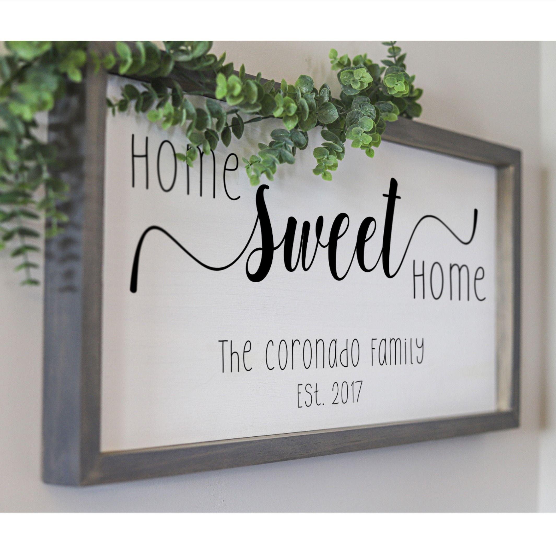 Home sweet home sign farmhouse home decor ideas living