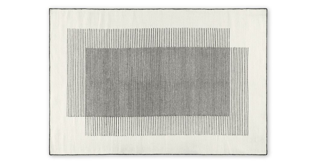 Caixa Wool Rug Large 160 X 230cm Off White Amp Black In