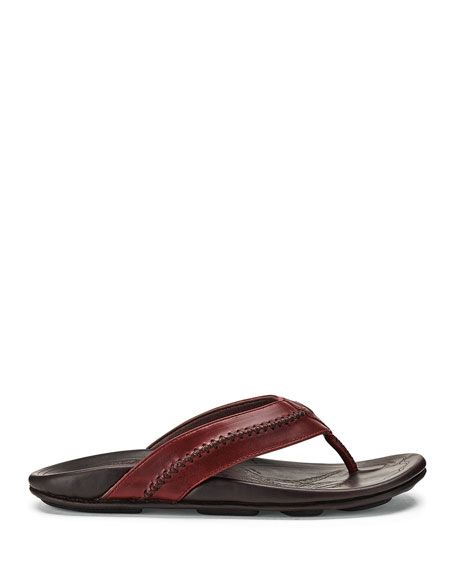 af6a71979882 Men s Mea Ola Leather Thong Sandals