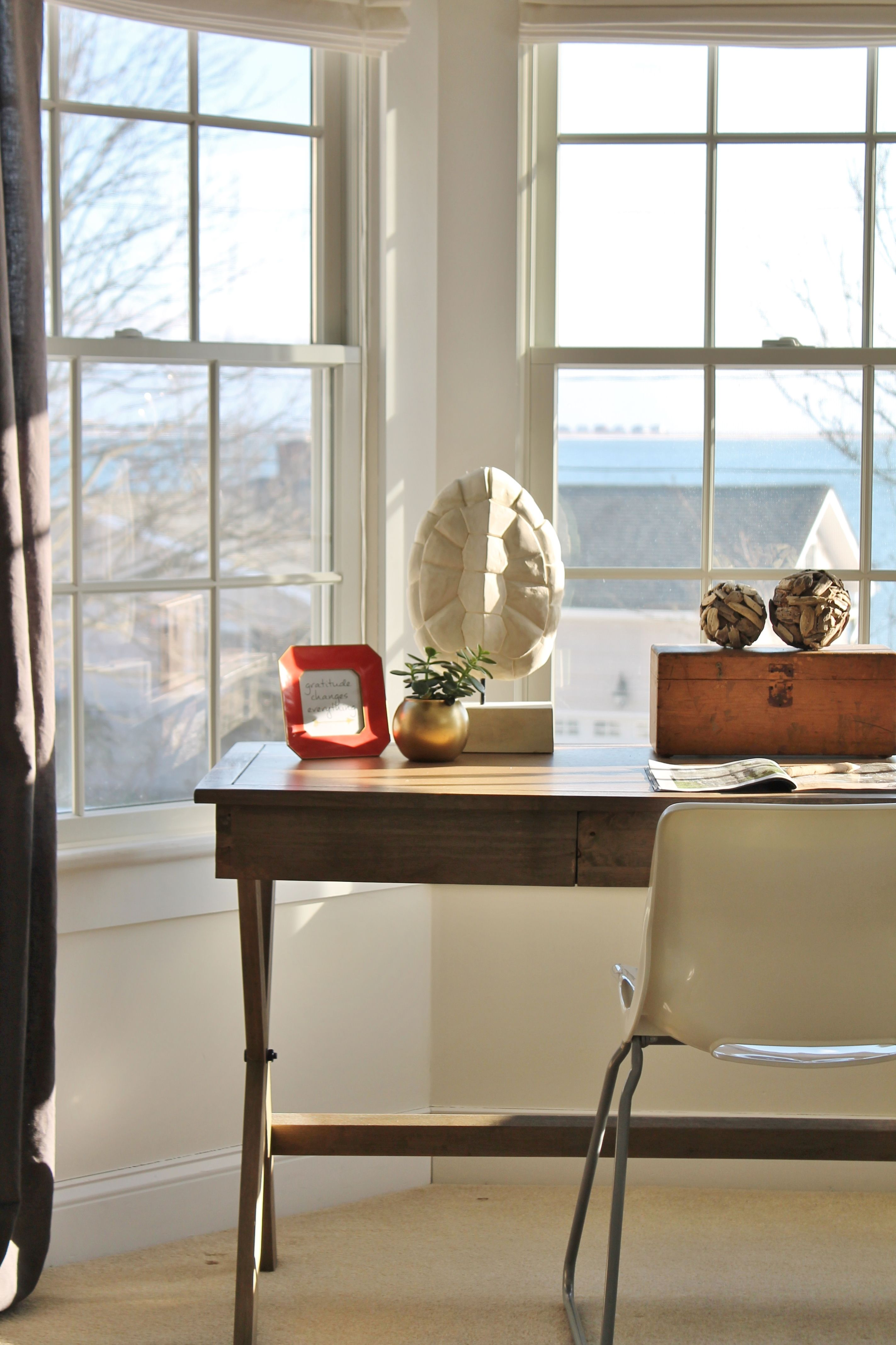 Rustic Chic Mini Master RevealMy Desk Home office