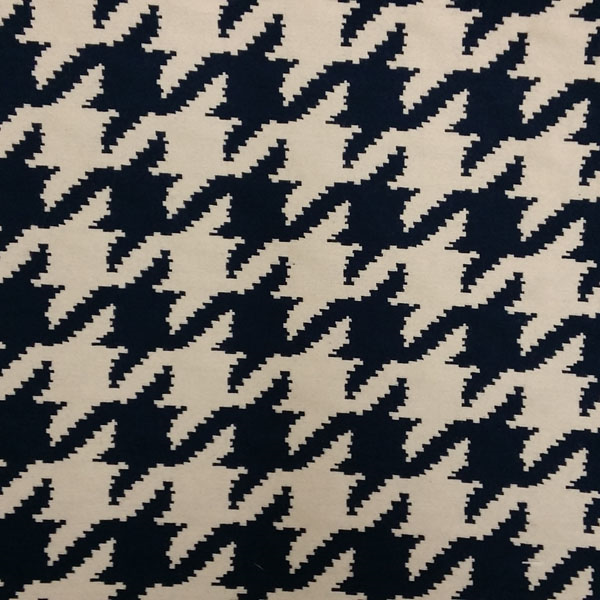 This Is A Navy And Natural Houndstooth Upholstery Fabric By Barrow Merrimac  Fabrics, Suitable For Any Decor In The Home Or Office.