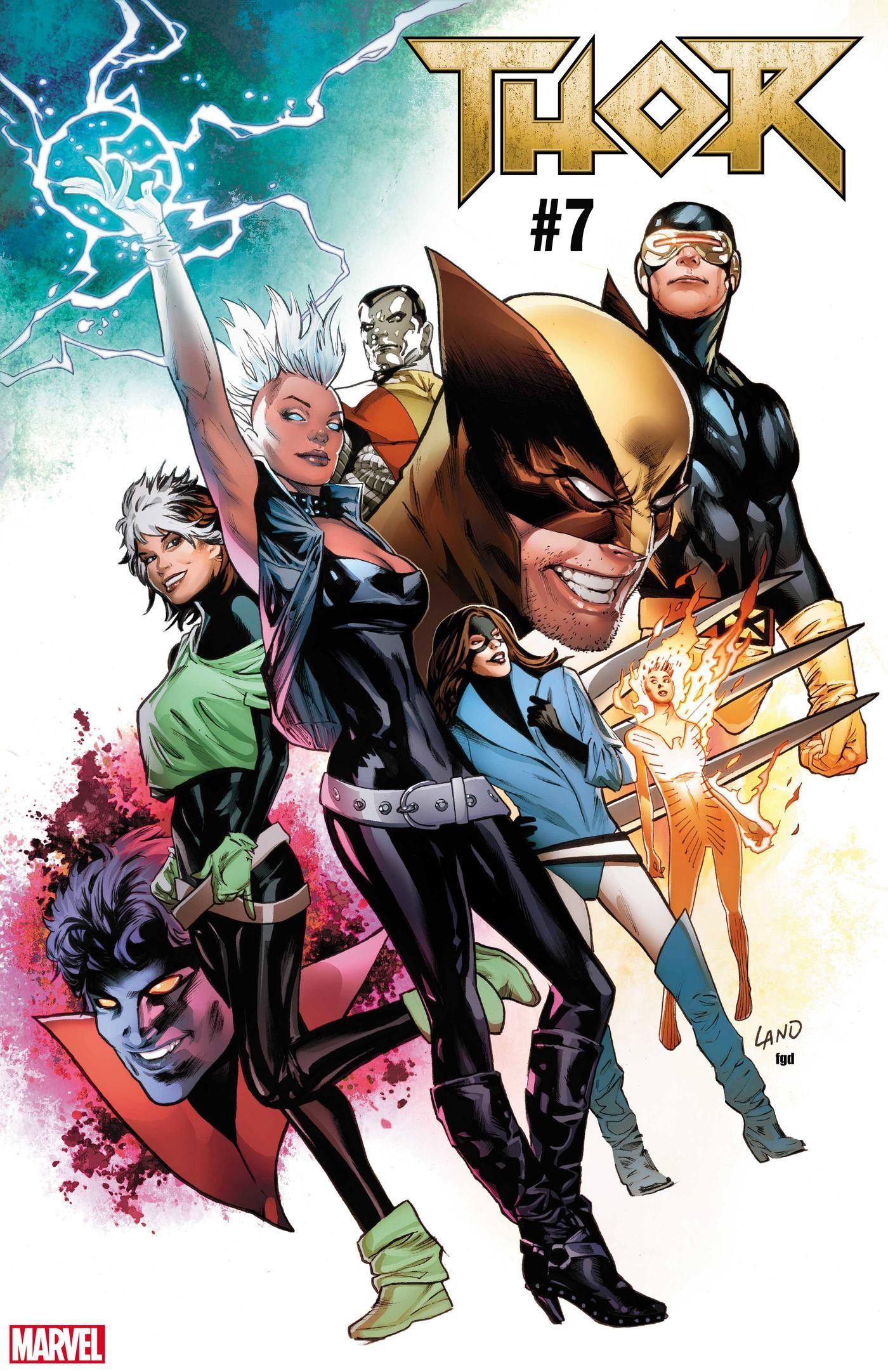 Five More Variant Covers Celebrating Uncanny X Men 1 Thor Comic Comics Cartoon Drawings
