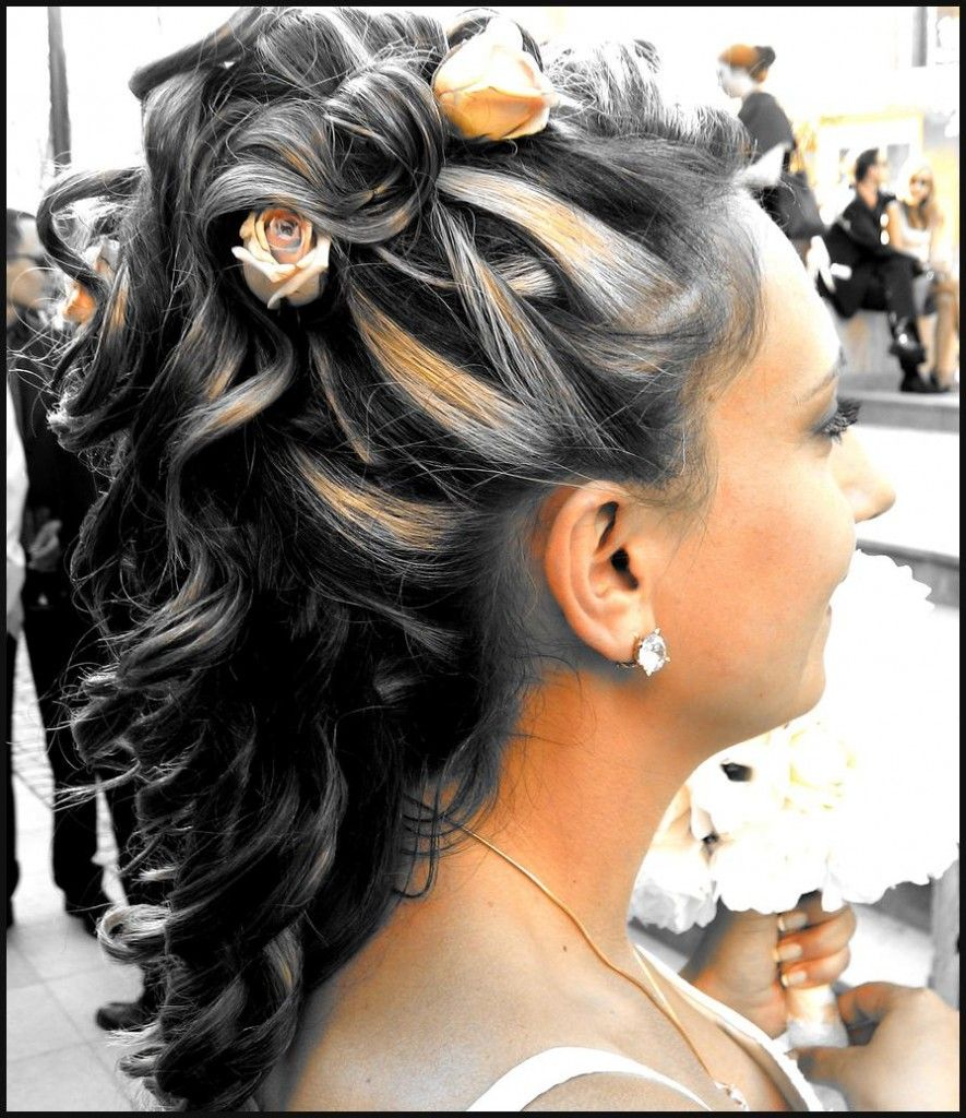 Half Up Straight Hairstyles For Weddings: Straight Wedding Half Updos