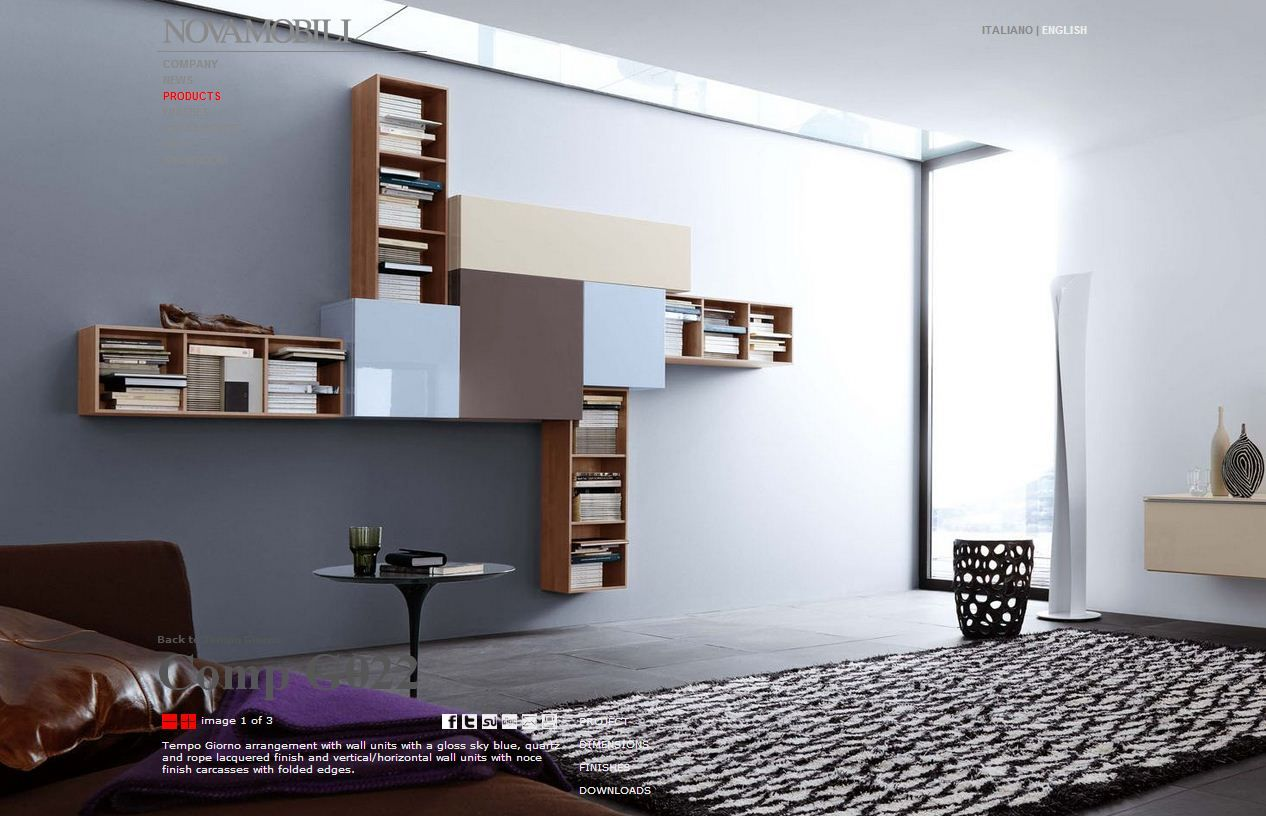Novamobili  Living Room Wall UnitsContemporary ...