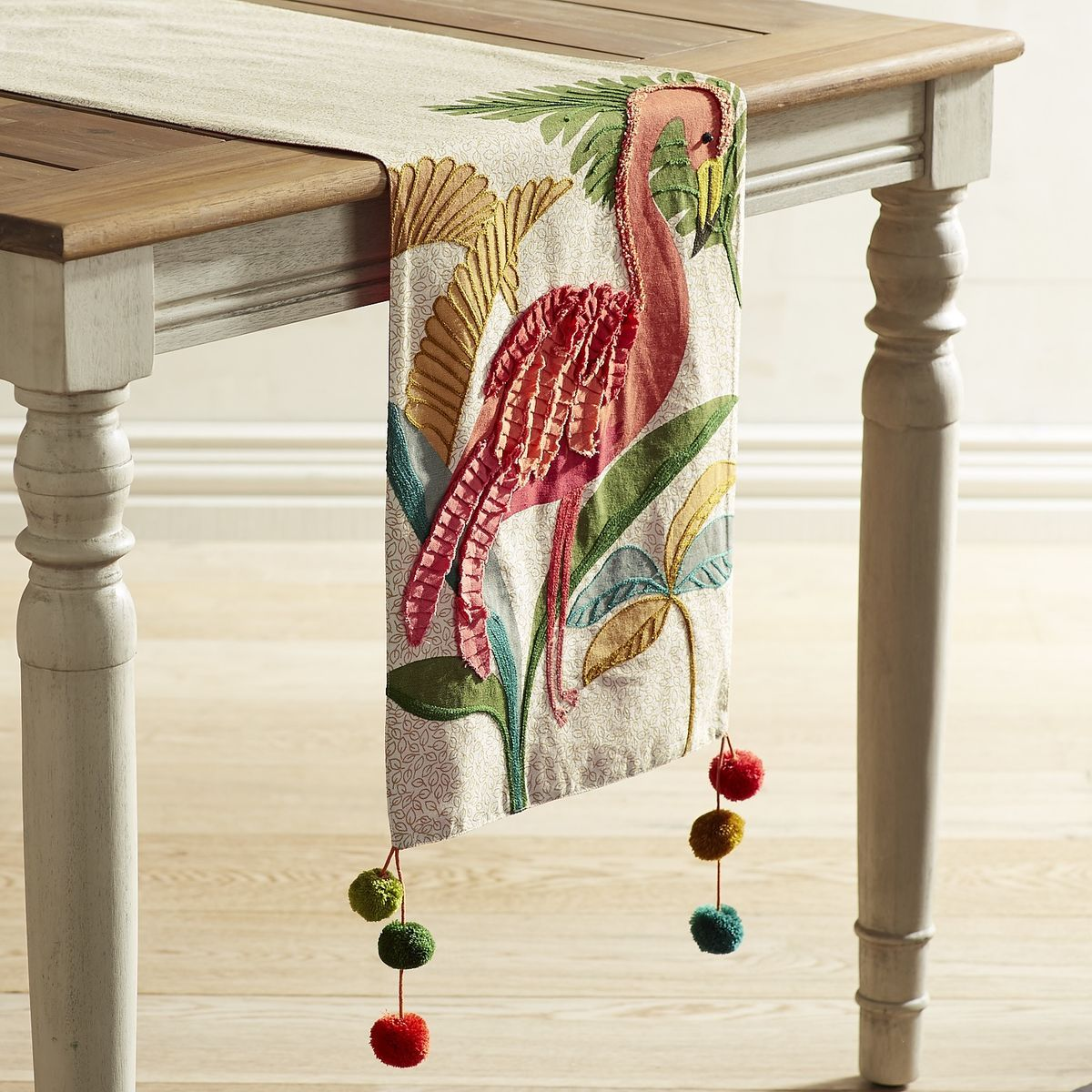 Flamingo Flair With Tassel 72 Table Runner Pier 1 Imports