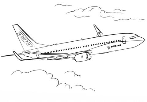 Boeing 737 Kleurplaat