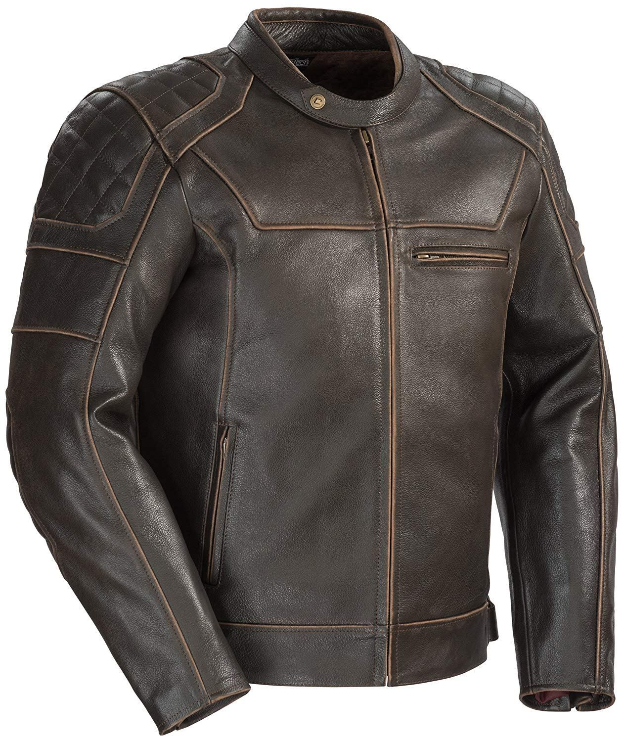 Cortech Dino Leather Motorcycle Jacket Mens Fashion Cat