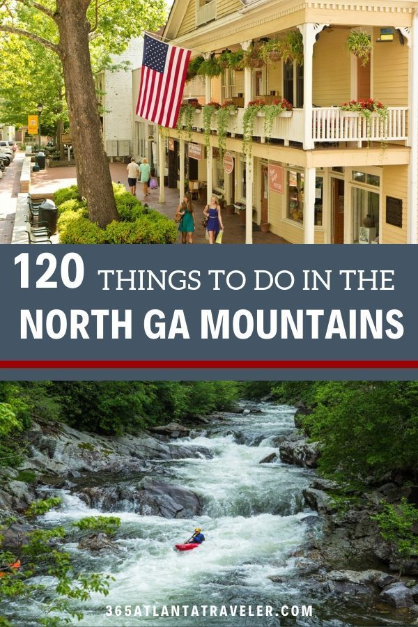 The North Georgia Mountains are filled with adventure for everyone. You can be an adventure-lover or hiker, of course. But there are also wonderful treasures for art-admirers and foodies in the mountains in Georgia. The North Georgia mountains offer camping, glamping and luxurious RV spots, as well. Check out our list of fun things to do, hiking with kids, amazing local restaurants, kayaking, outdoor adventures, historical buildings, and more! #Georgia #familyvacation