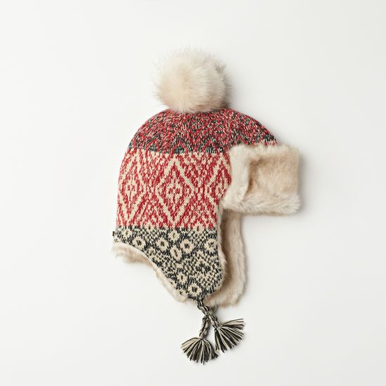 Roots - Girls Neve Fair Isle Trapper Hat | Roots | Pinterest ...