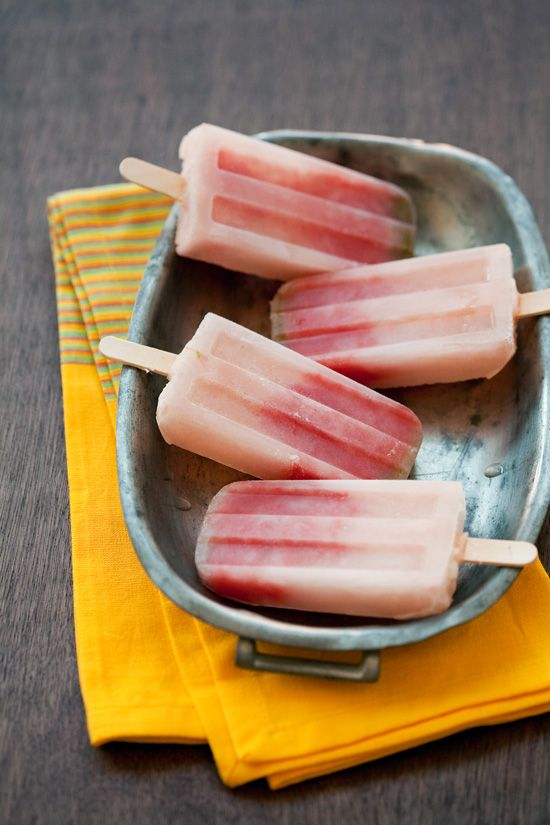 Tequila watermelon popsicles.