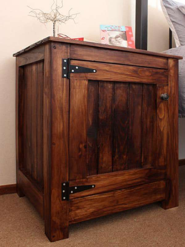 Affordable Bedside Cabinet Using Pine Tongue And Groove Bedroom Furniture Home Decor