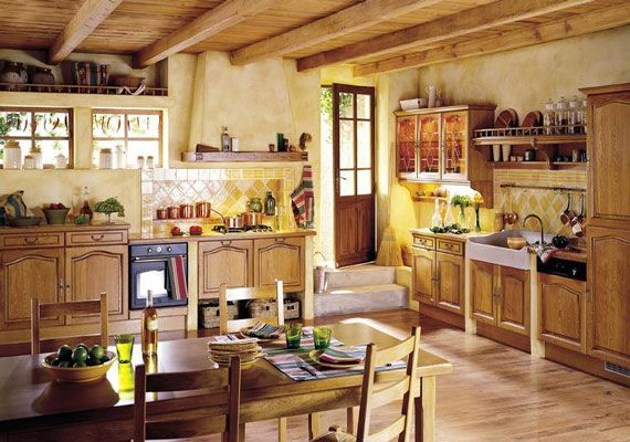 Blue and Yellow French Decor   French Country Style Kitchen 904 15 Real French Country Kitchen Ideas