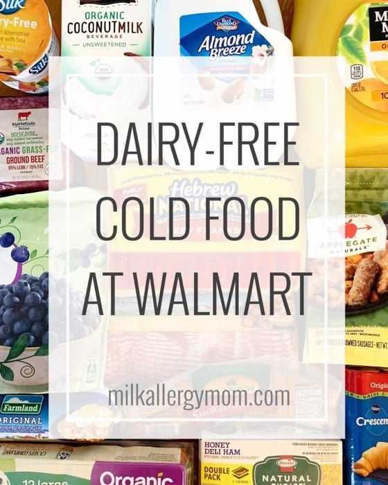 Dairy-Free Cold Food at Walmart | Milk Allergy Mom Shopping Groceries