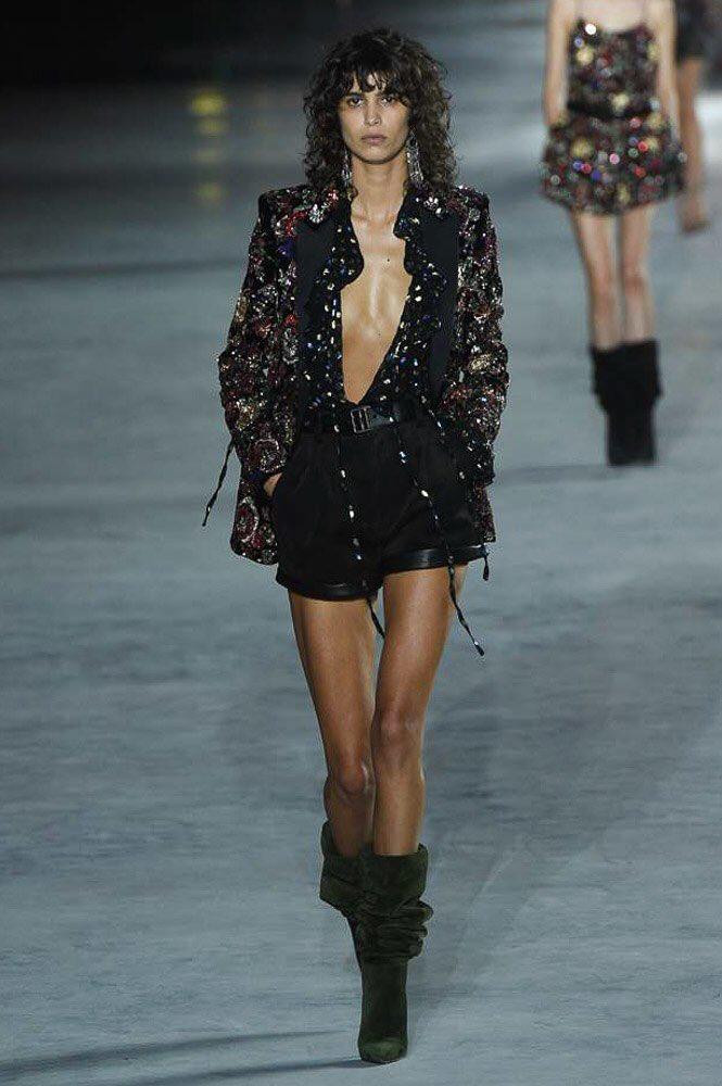9cdd6ff4419 Mica arganaraz x YSL SS18 | High fashion models | Fashion, How to ...