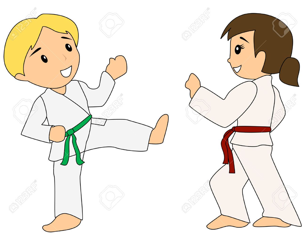 3277159-Children-learning-Taekwondo-Stock-Vector-taekwondo-sports ...