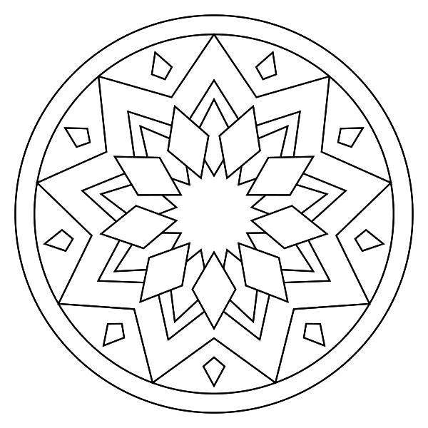 Mandala para imprimir 17 - La Guía de Mandalas | dibujos | Pinterest ...