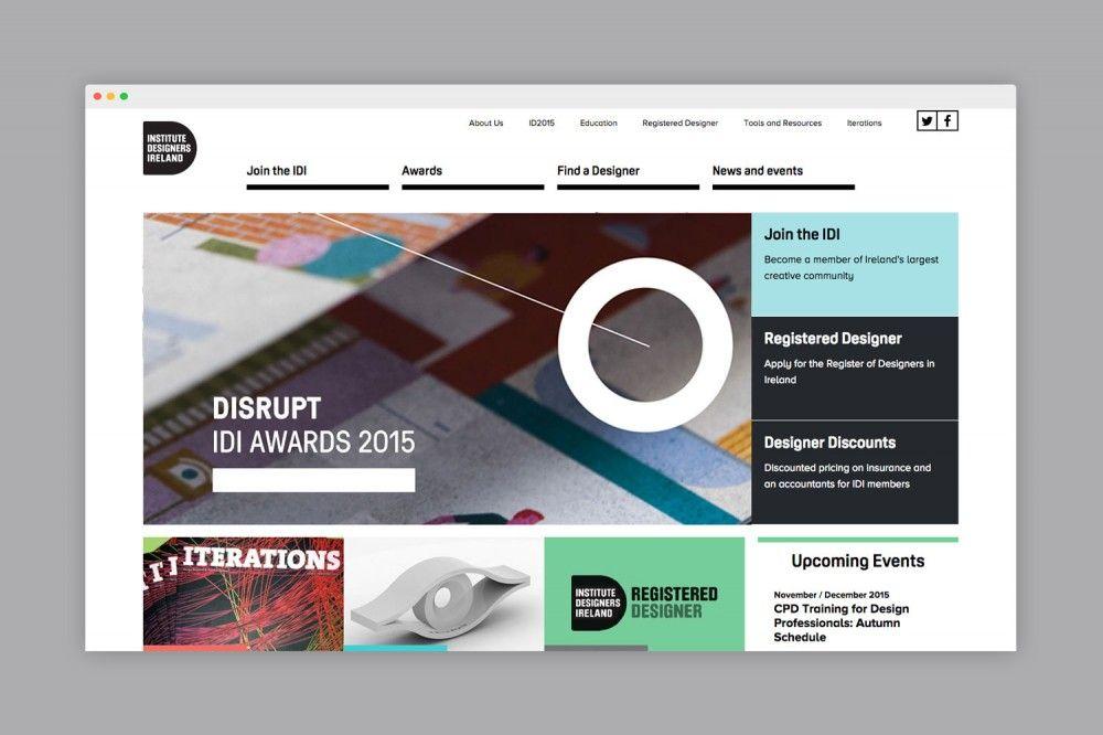 Institute Of Designers In Ireland Web Design Design How To Apply