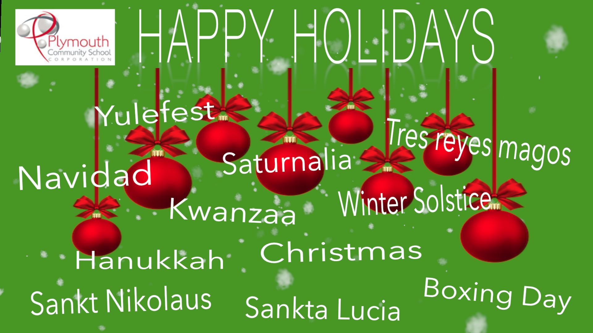 Happy Holidays Happy Kwanzaa Happy Hanukkah Happy Holidays