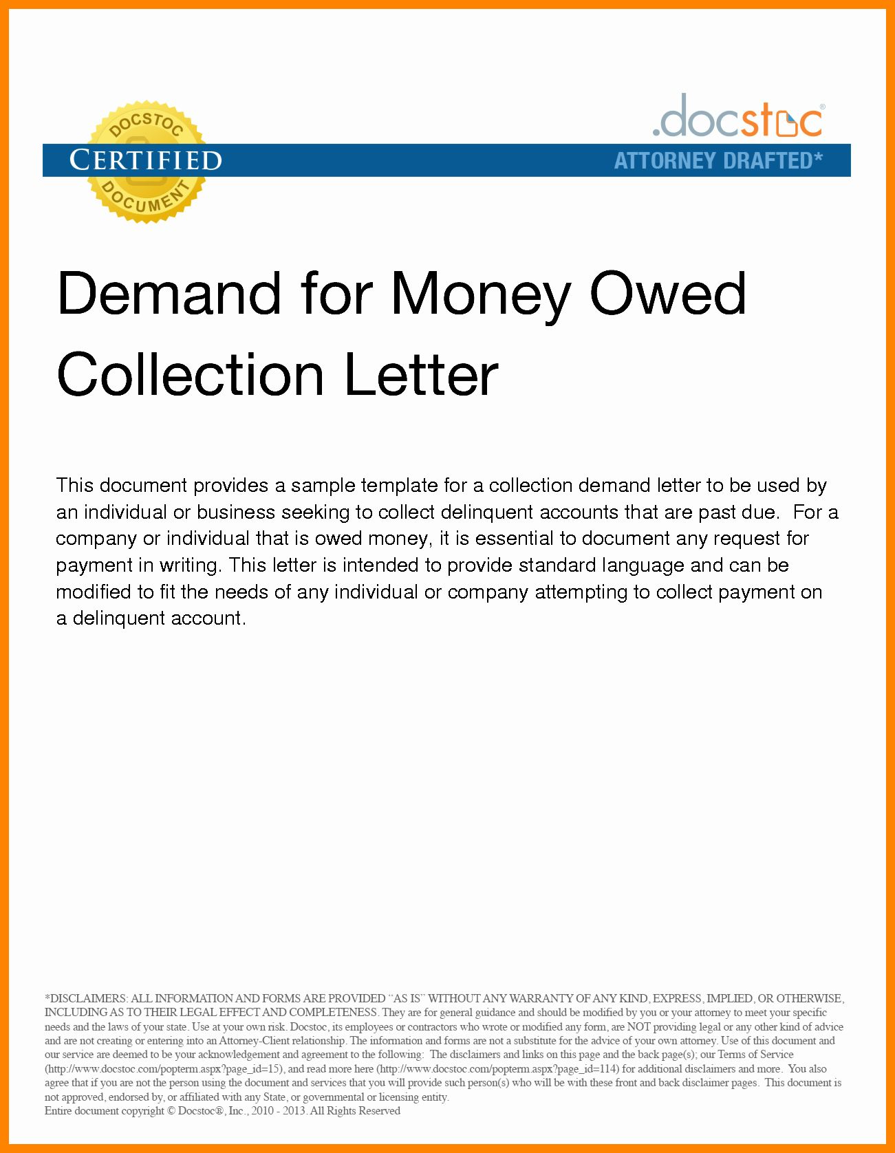 Demand Letter For Money Owed Sample from i.pinimg.com