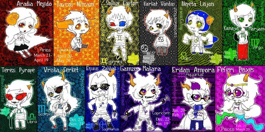 Homestuck Troll Zodiac By Thechurroblaze