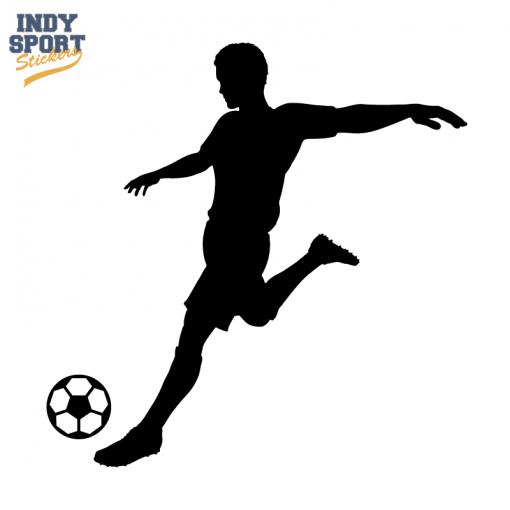 Soccer Player Silhouette Kicking Ball Car Stickers And Decals Soccer Players Soccer Silhouette Soccer