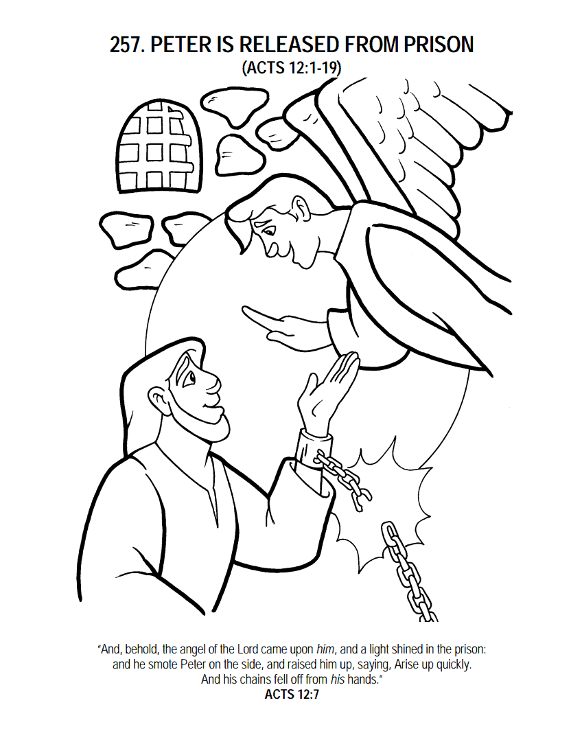 FREE Bible Story Coloring Sheet and Written Activities as