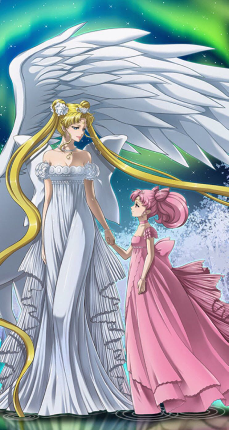 Neo Queen Serenity and Princess Small Lady