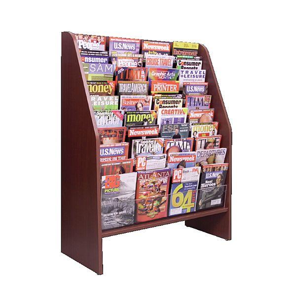 Demco Com Floor Magazine Literature Displays Magazine Display Rack Magazine Display Magazine Rack