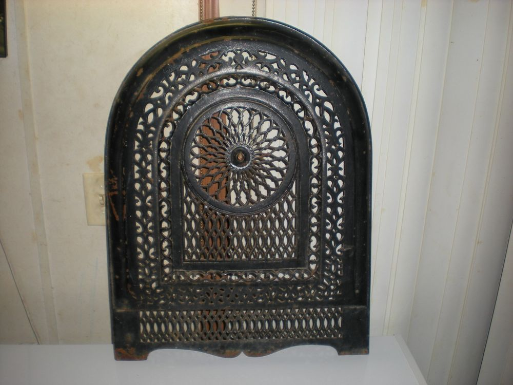 Beautiful Antique Cast Iron Fireplace Screen Summer Cover Very Nice Cast Iron Fireplace Antique Cast Iron Fireplace Screens