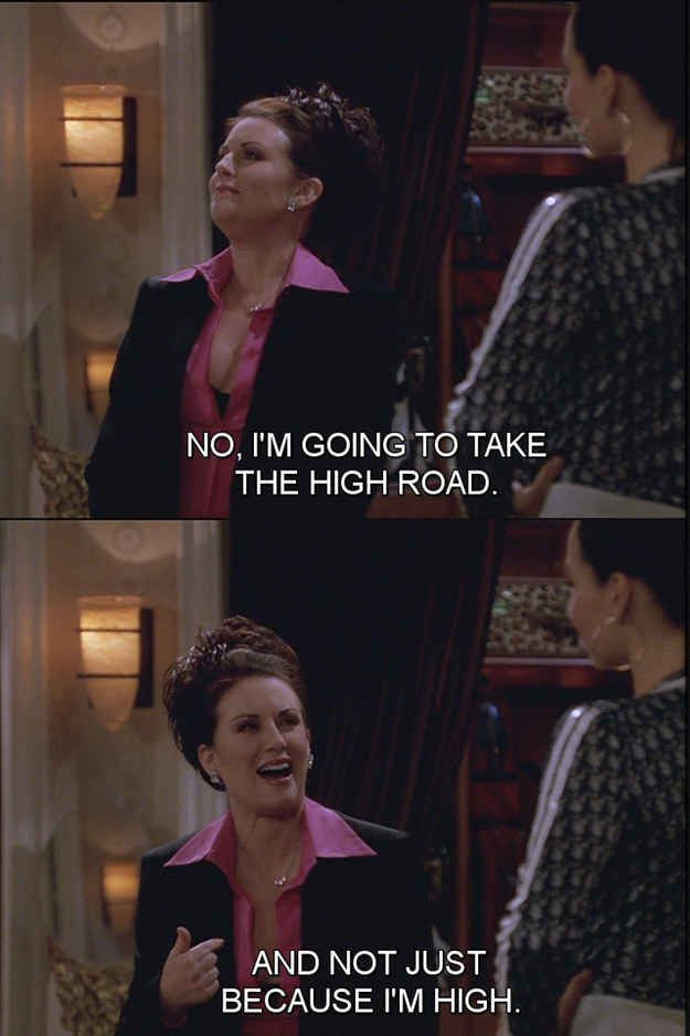 The Alphabet According To Karen Walker Of Will Grace Karen Walker Quotes Karen Will And Grace Will And Grace