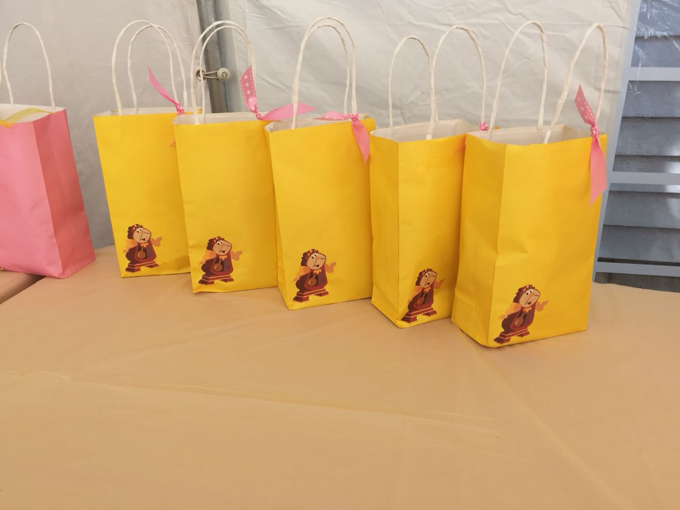 Favor Bags Beauty and the Beast Party Chip Bag Goody Bag Disney Party Princess Party Cookie Bag Girl Party Favors Chip Bag
